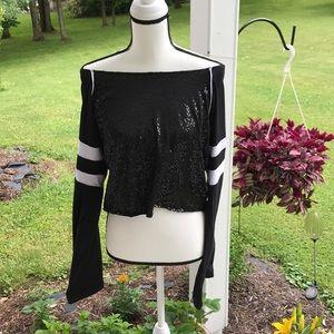 Costume Gallery Tops - XLA Costume Gallery Calypso Sequin Dance Top